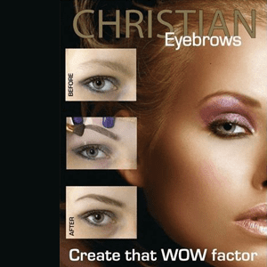 Christian wenkbrauwmake-up